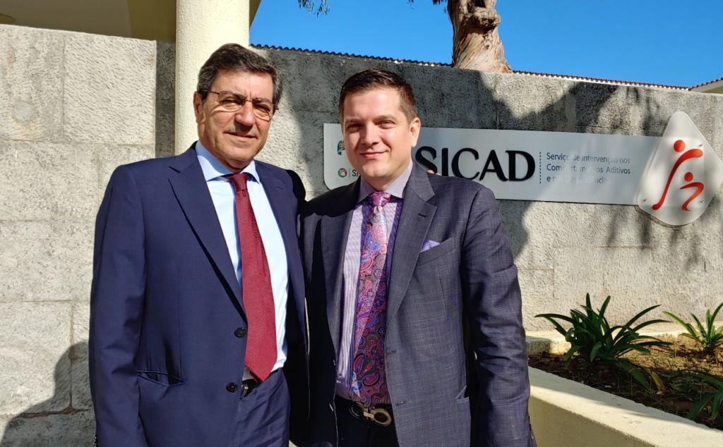 Portuguese Drug Czar João Castel-Branco Goulão and Hanley Foundation's Andrew Burki