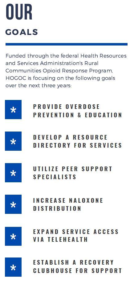 Hendry, Okeechobee and Glades Opioid Consortium (HOGOC) Goals